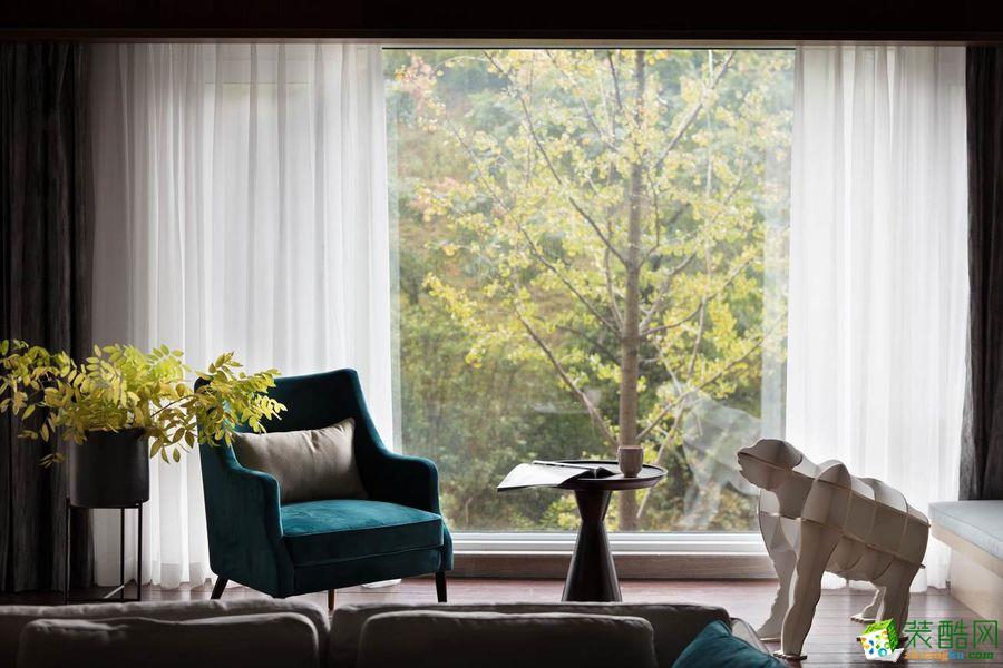 广元梧桐树装饰-125平现代装修案例效果图_现代风格-三室两厅两卫