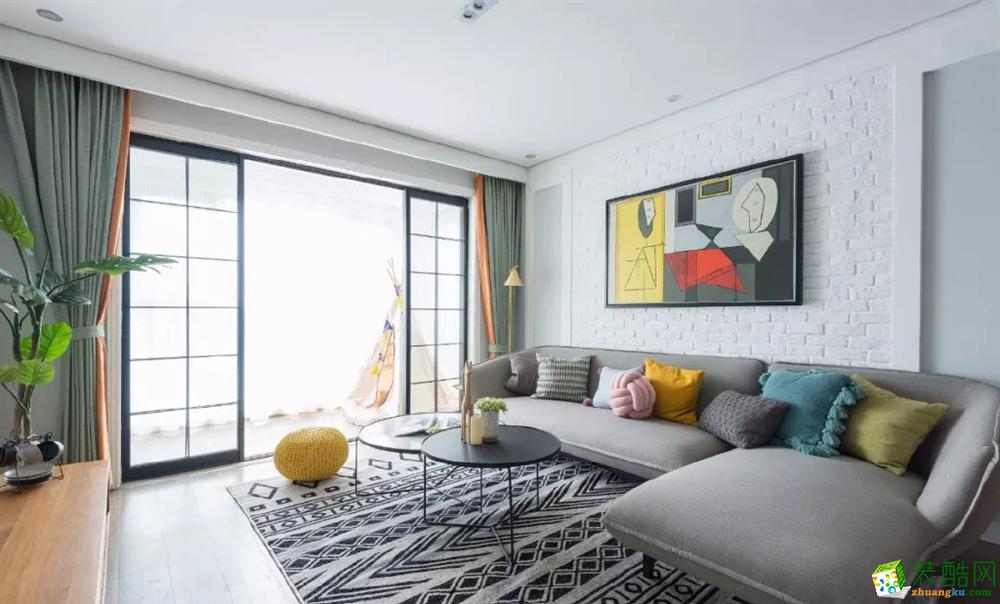 南昌艾林裝飾-98平歐式三居室裝修效果圖