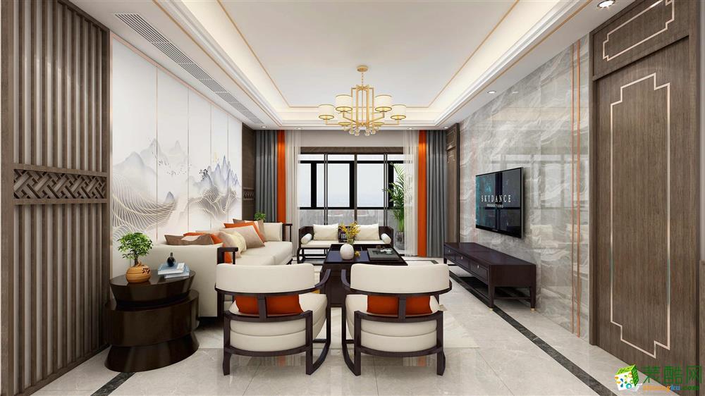 西安功德小區-139平米新中式四室兩廳裝修效果圖片