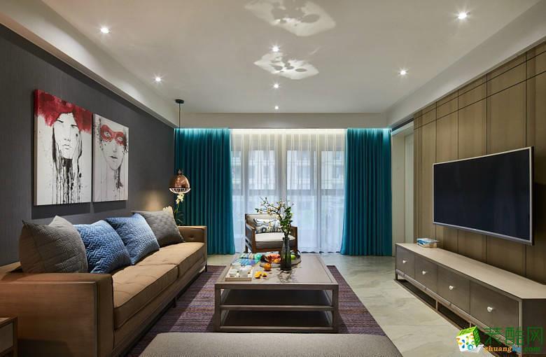 成都100平米混搭風格三室兩廳裝修效果圖