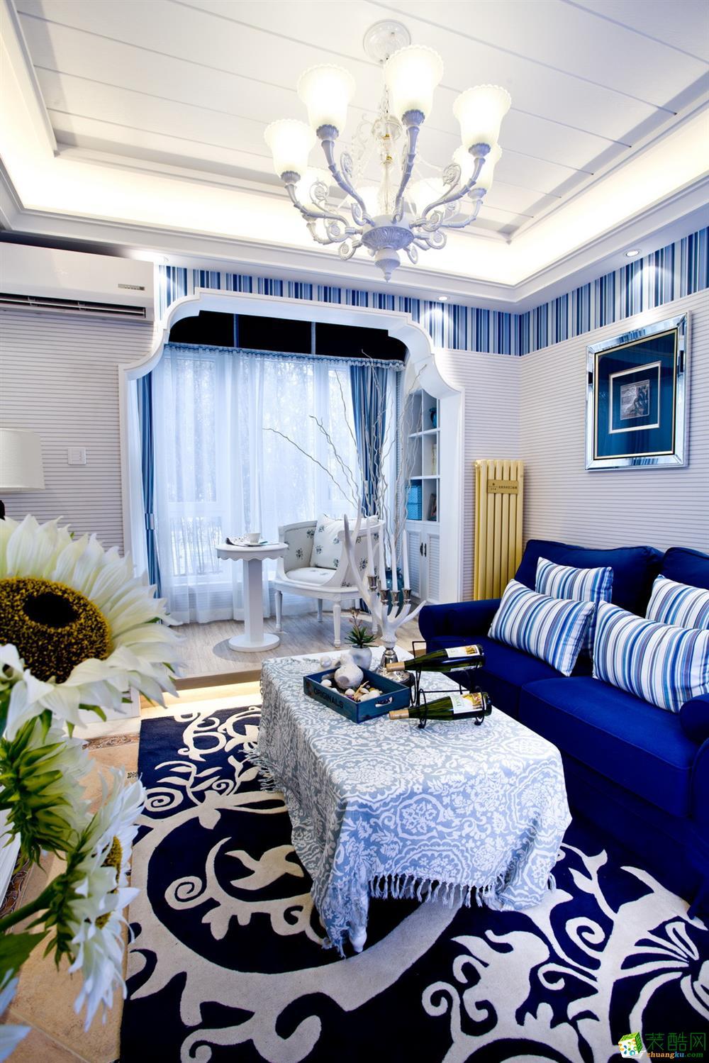 江津104平米地中海風格三室兩廳裝修效果圖