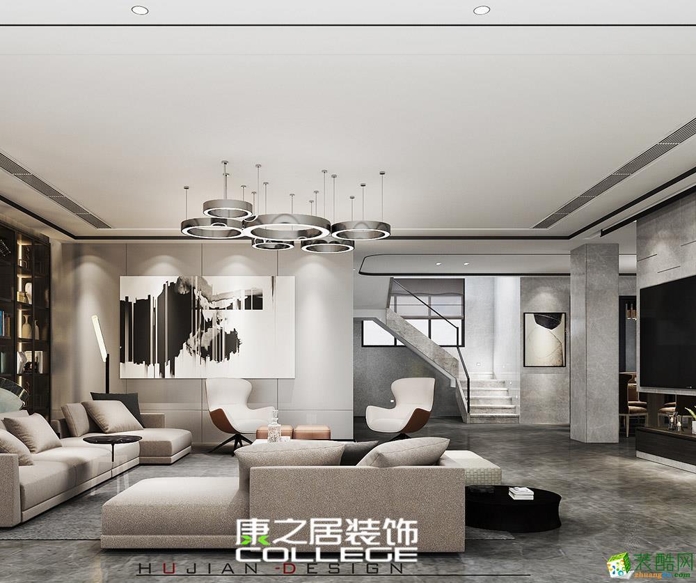 245平米中海朝陽別墅現代風裝修設計案例