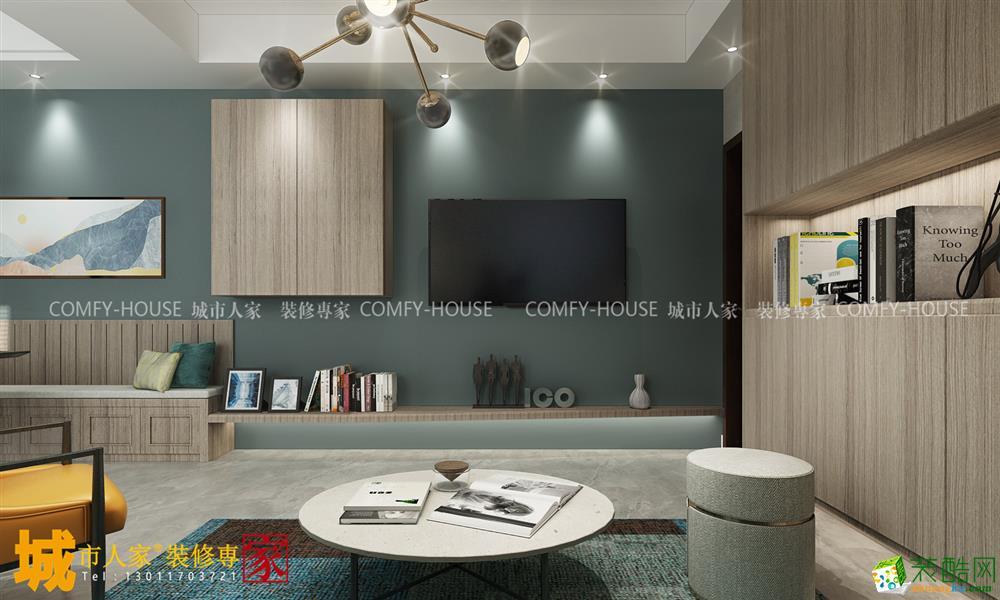济南千佛东路85平两室简约风格装修效果图