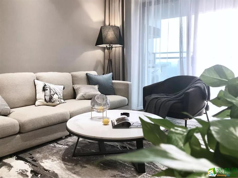 西安御錦城120㎡三居室現代風格裝修效果圖