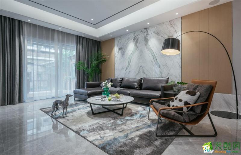 重庆140平米现代风格四居室装修案例图片