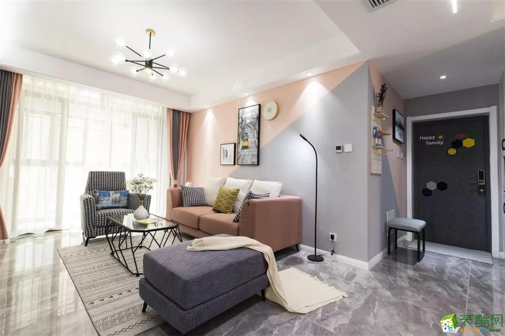 銀城頤居悅見山78平現代簡約裝修效果圖_現代風格-三室一廳一衛