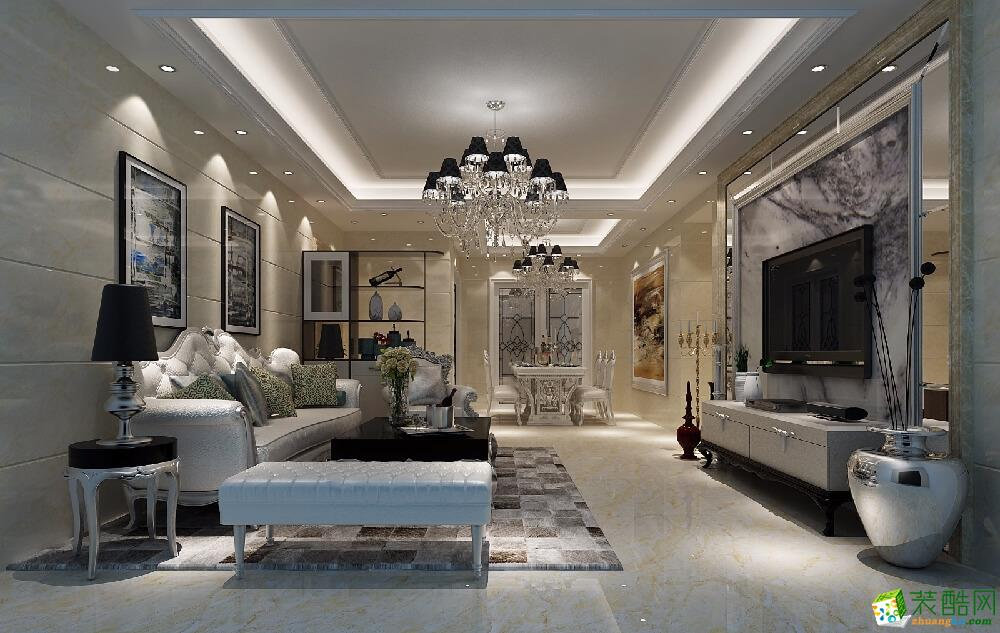 广州86平米现代风格两室两厅装修效果图