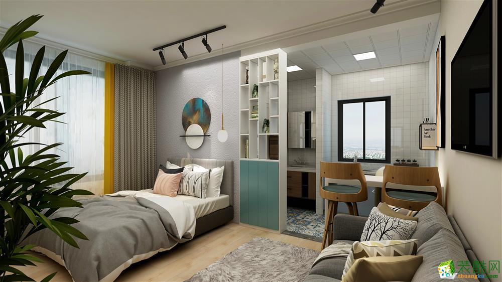 25平一居室现代风格装修效果图
