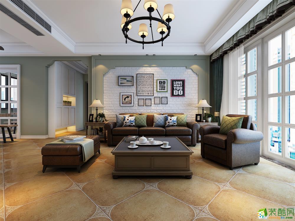 寶能城135平三居室美式風格設計案例
