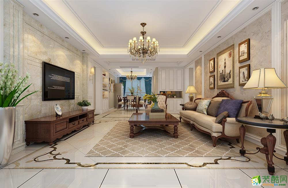 滨湖高速时代城183平四室两厅设计案例