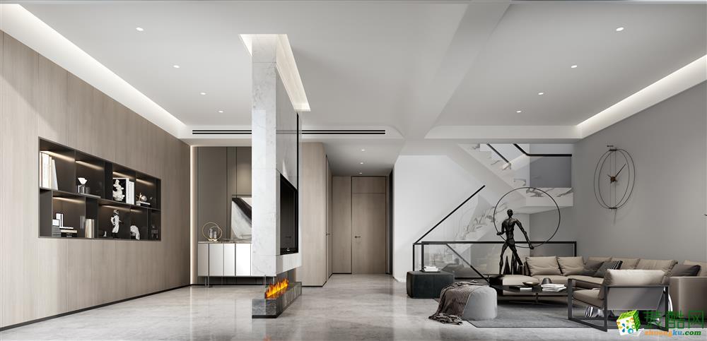 蘇州子時別墅裝飾-御園現代風格設計案例