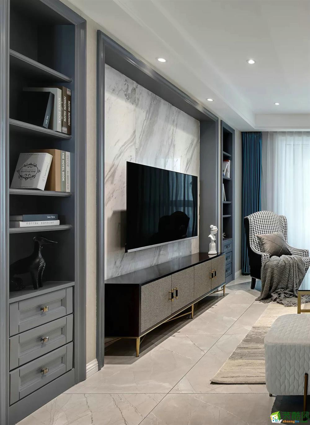 三室兩廳裝修—117平米現代風格裝修效果圖