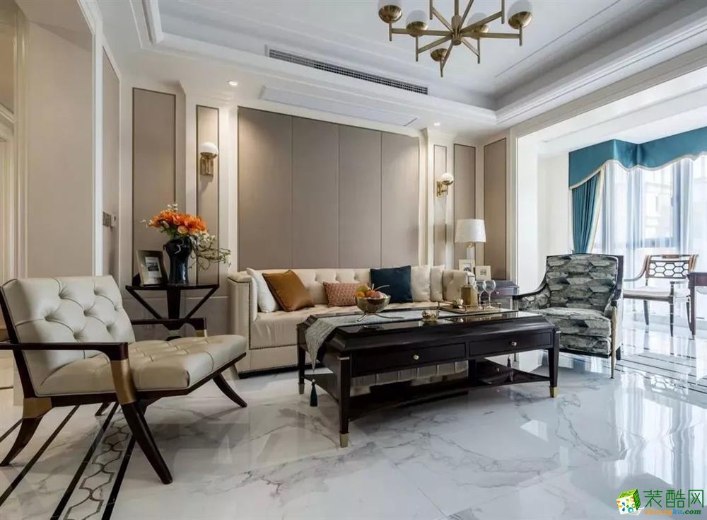 三室两厅装修―三居室110平美式风格装修案例