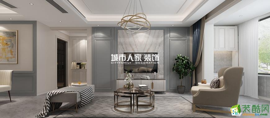 華洲城云頂120平米簡歐風格裝修案例分享