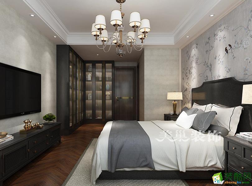 郑州中建翰林苑180平方四室两厅美式装修效果图