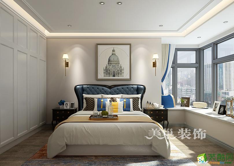 鄭州圣菲城130平方三室兩廳美式風格裝修效果圖