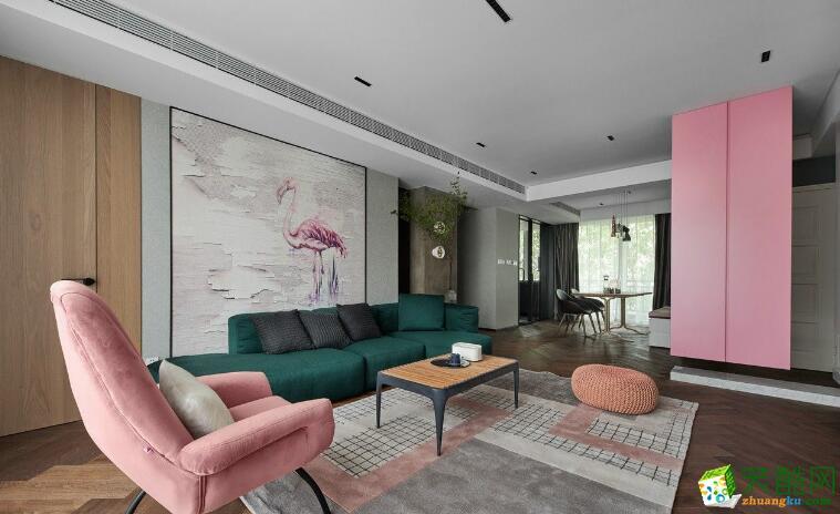 南昌私人訂制裝飾-110平北歐三居室裝修效果圖
