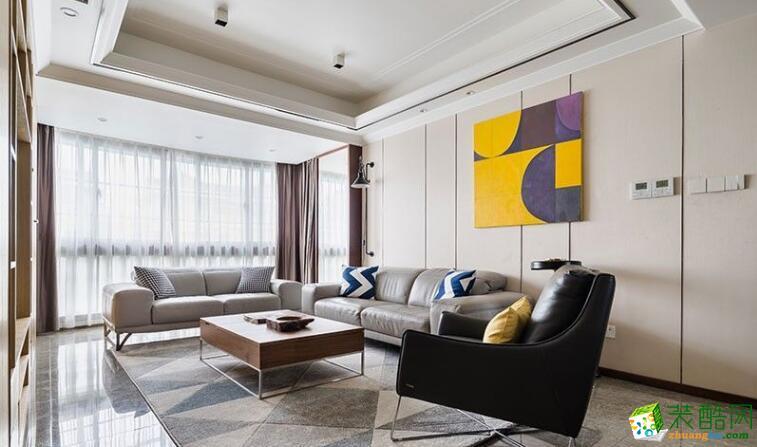 南昌私人订制装饰-128平现代四房装修案例效果图