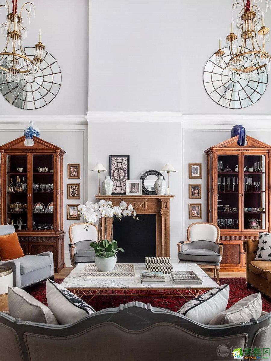 120㎡三居室歐式風格裝修案例