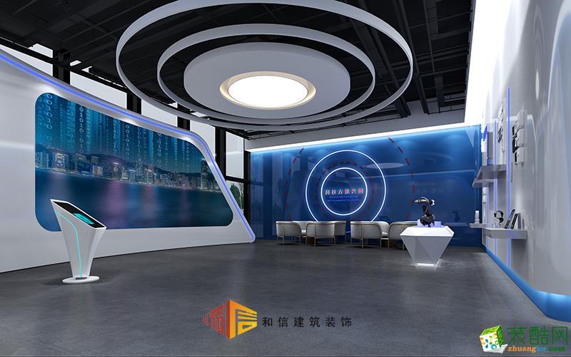 成都展厅装修设计公司-大数据产业园展示中心+接待厅