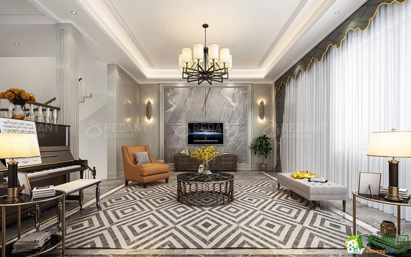 觀瀾麗宮350㎡美式輕奢風格別墅設計案例