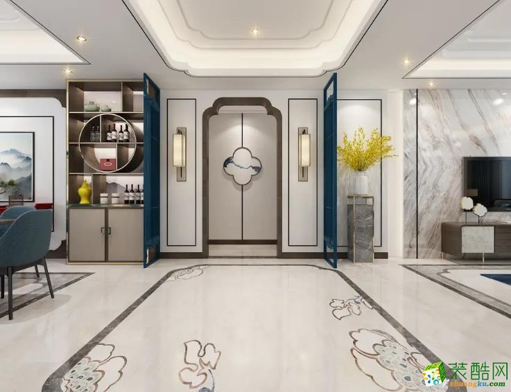 融僑觀邸135平米中式風格裝修效果圖