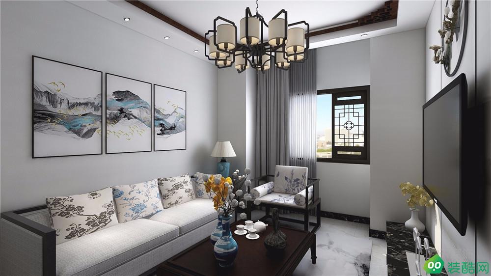 力天裝飾 遠洋風景公寓 70平中式風格