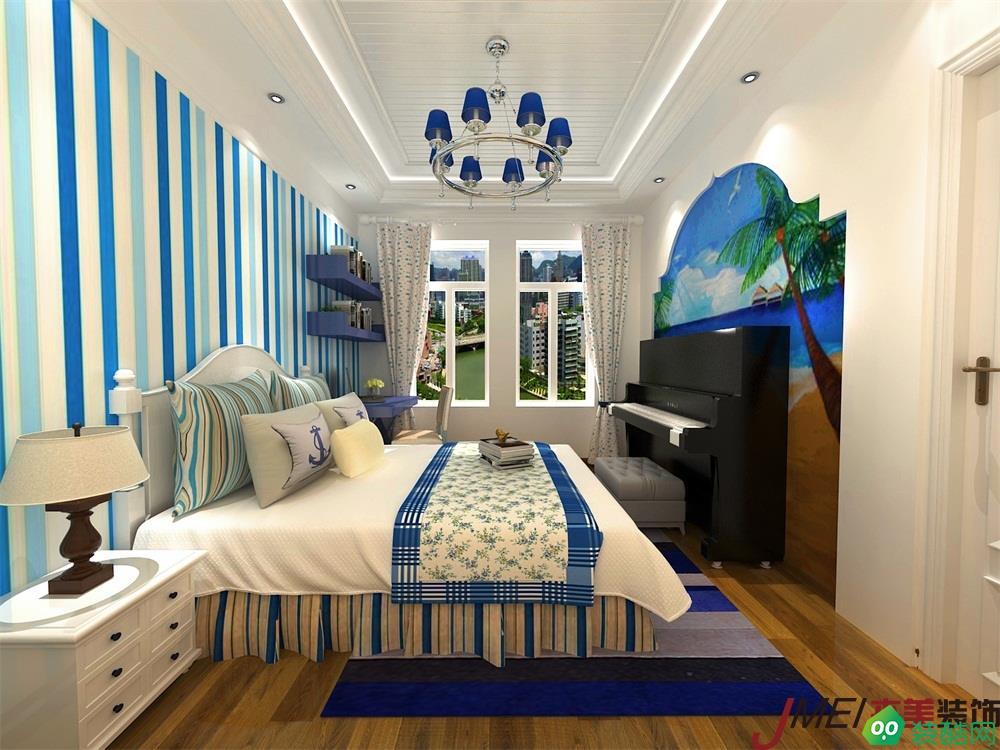 大連100平米三室兩廳地中海風格裝修效果圖