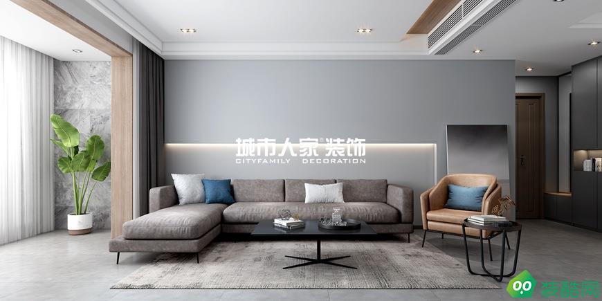 昆明瀾庭140平米極簡風格裝修案例分享