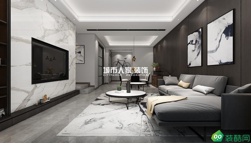 龍湖香醍140平米現代風格裝修案例分享