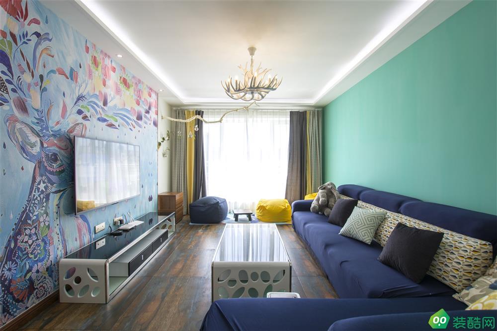 烏魯木齊100平米地中海風格三室兩廳裝修案例圖片