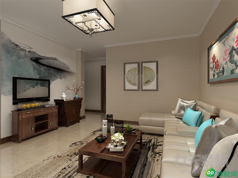 安华里64㎡中式风格2室2厅1厨1卫装修案例图