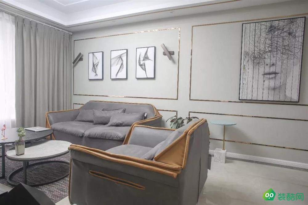 重慶75平米現代風格三居室裝修效果圖-港宏裝飾