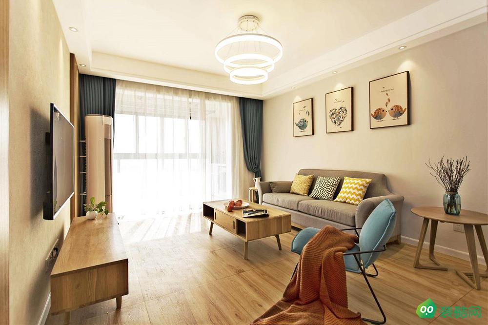 重慶115平米背發光三居室裝修效果圖-港宏裝飾