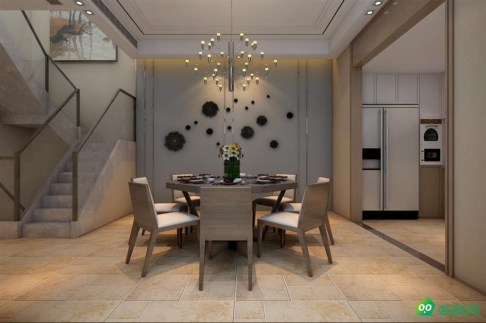 山水裝飾作品——萬科城市之光300平別墅現代風格設計