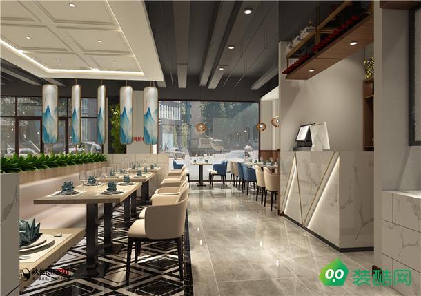 銀川餐廳裝修300平中式風格裝修效果圖