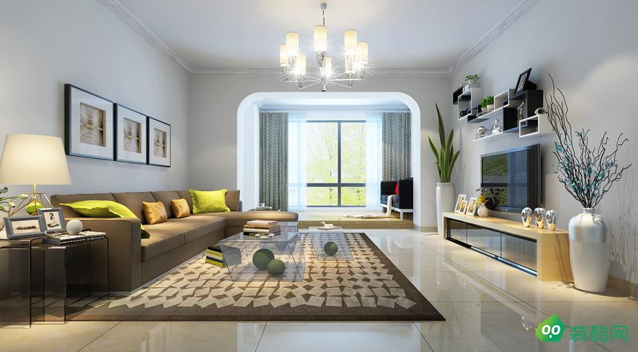海口93平米現代簡約風格兩居室裝修效果圖