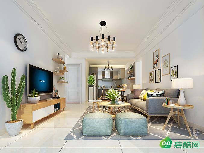 海口82平米歐式風格兩居室裝修案例圖片