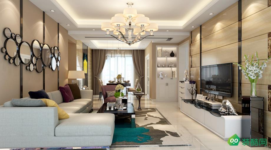 海口115平米現代簡約風格三室兩廳裝修案例圖片