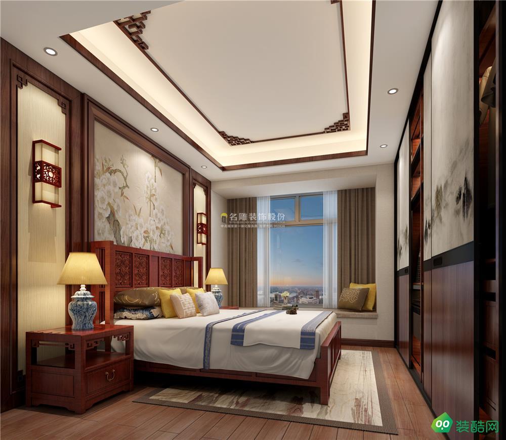 中式装修效果图-滨海之窗-139㎡四居室