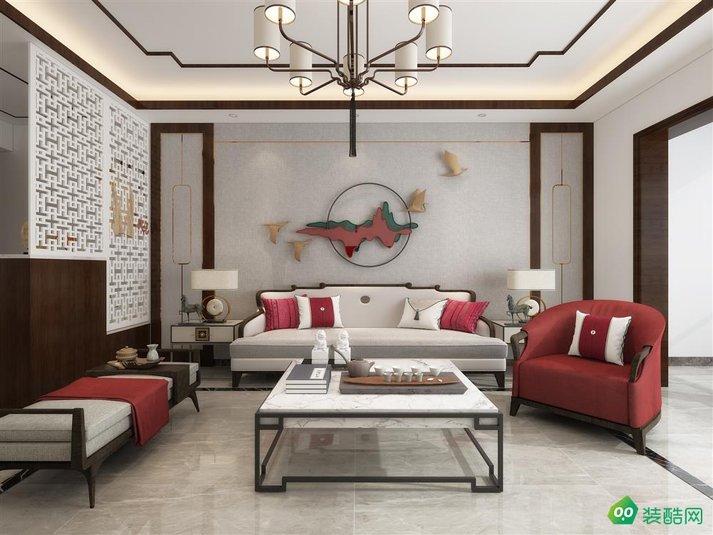 140平米四室二厅新中式装修