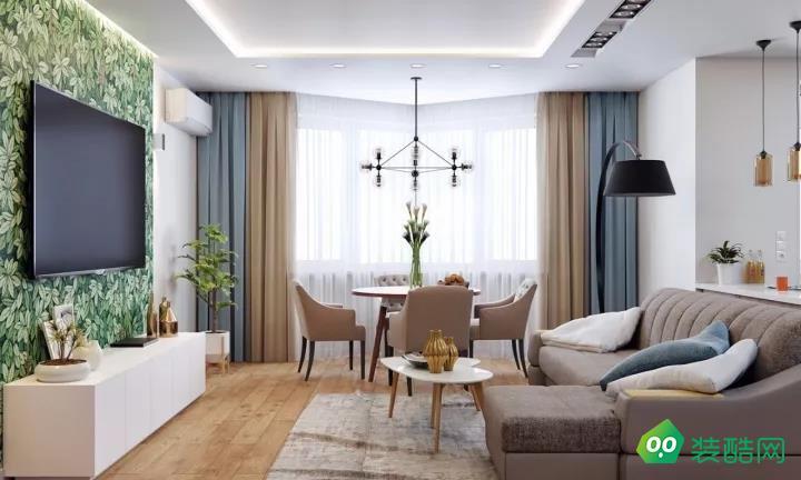 广州110平米现代风格四居室装修案例图片
