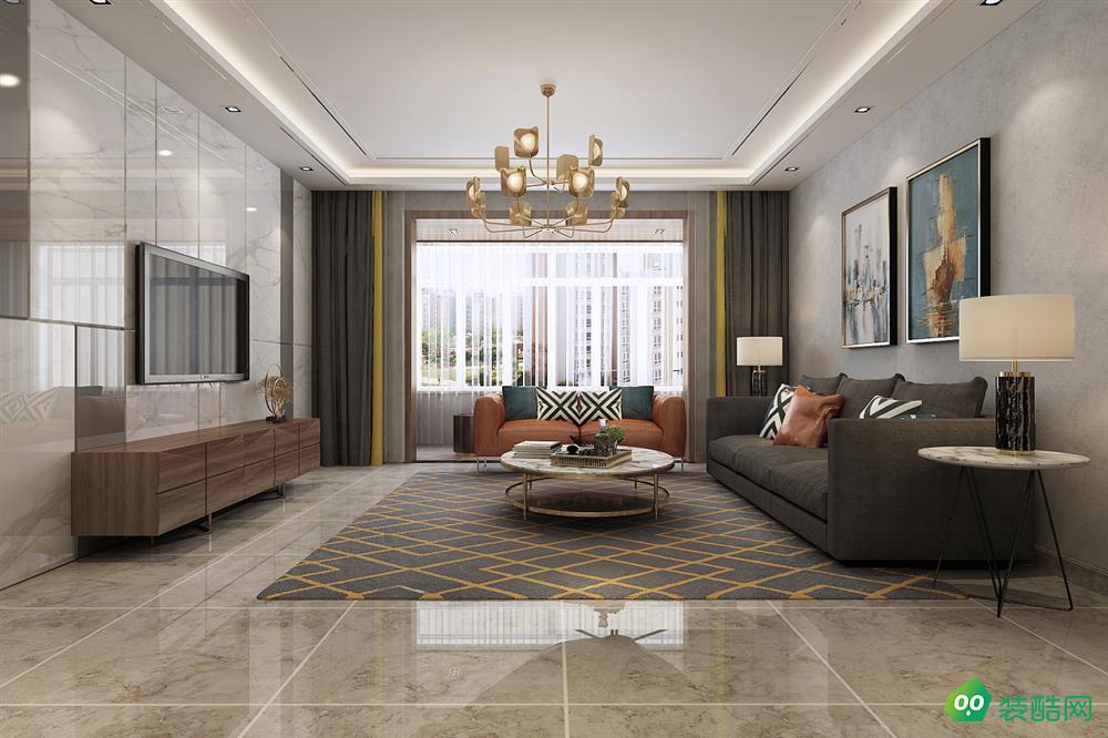 西安159平米现代轻奢风格四室两厅两卫装修效果图片