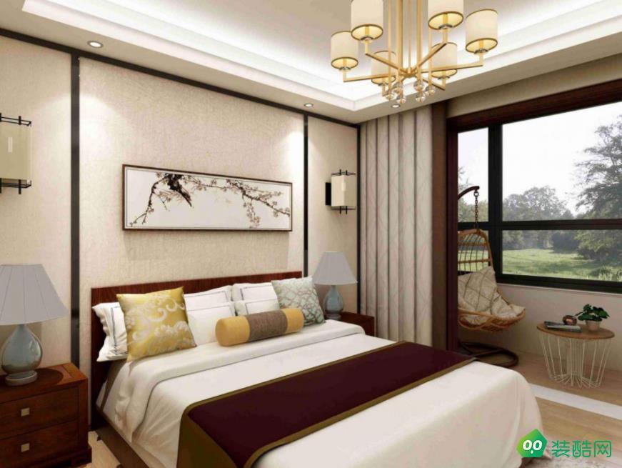 阜陽悅瀾灣152平四室新中式風格裝修效果圖-佳管家裝飾