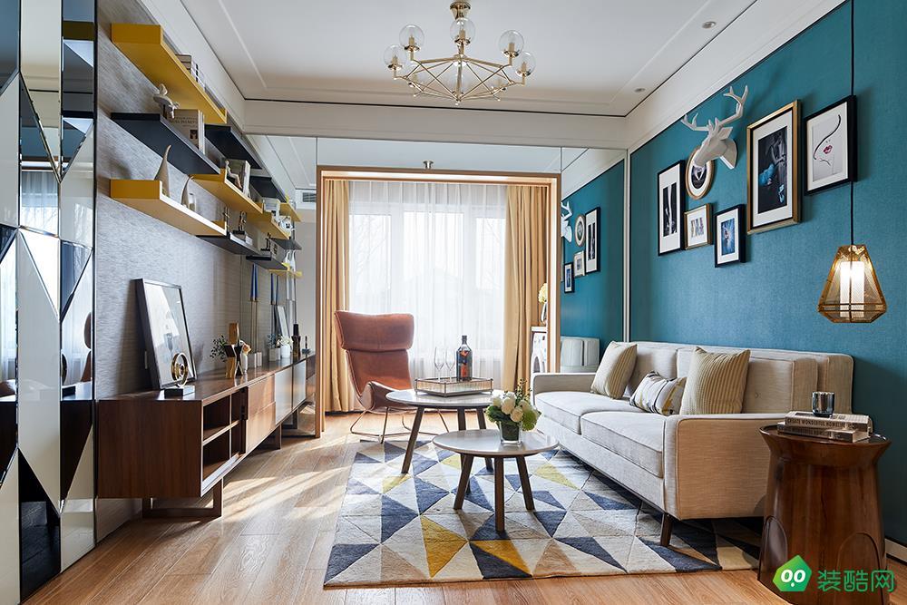 重慶123平米北歐風格三室兩廳裝修效果圖