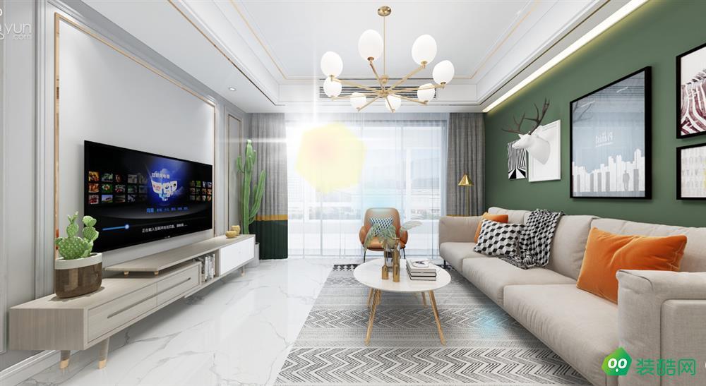 重庆144平米北欧风格四室两厅装修案例图片