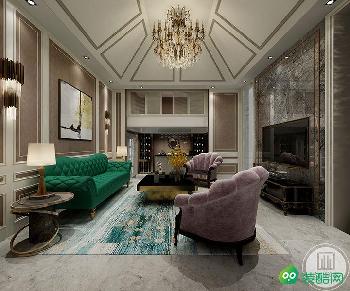 南京景楓法蘭谷330平新古典裝修效果圖