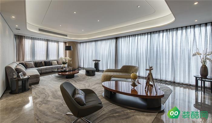 沈陽聽雨觀瀾226平四室現代輕奢風格裝修效果圖