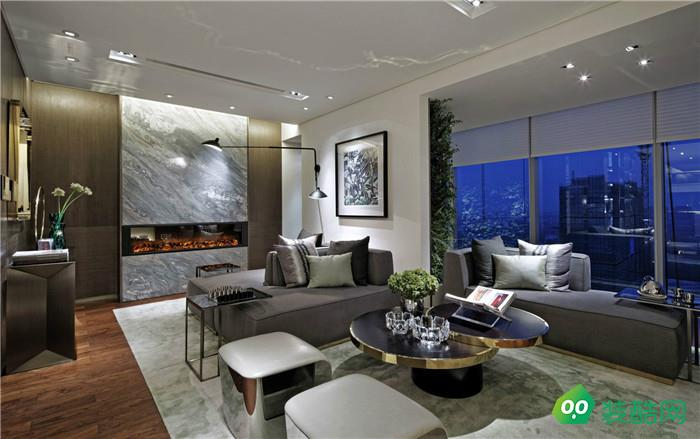 匯置尚都280平三室現代風格裝修效果圖
