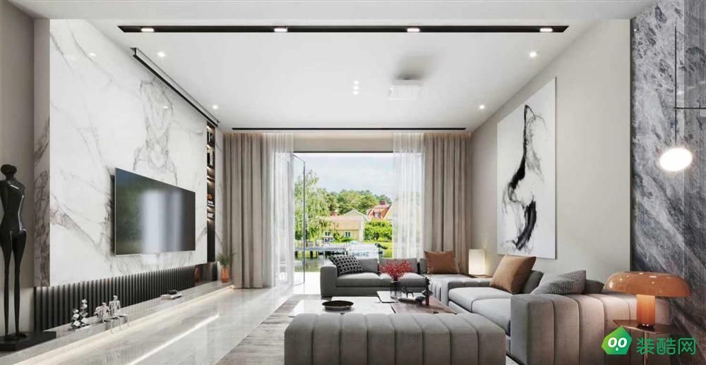 青岛120平米欧式风格三室两厅装修效果图